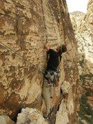 Rock Climbing Photo: Black velvet wall, redrocks