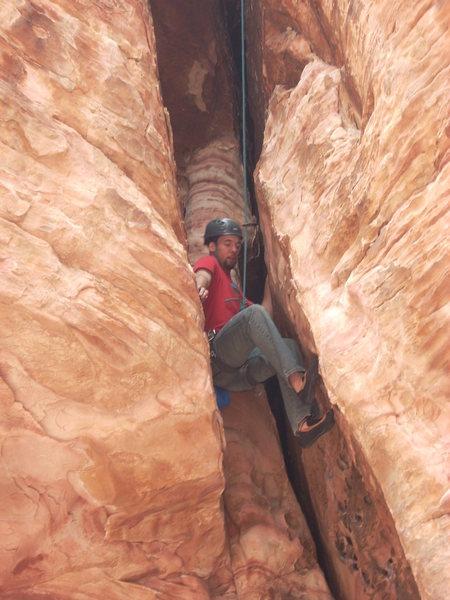 Rock Climbing Photo: JFC on route.