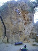 Rock Climbing Photo: near the top of Right side face.