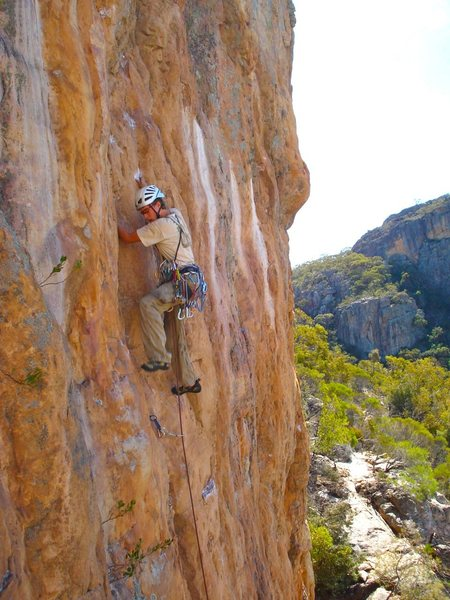 Rock Climbing Photo: Just after this Tristan took a huge fall - I was a...