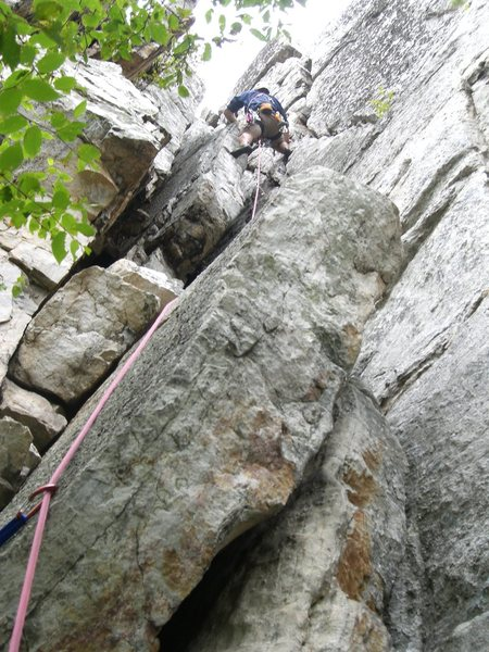 Pat leading up the last pitch of Le Gourmet.