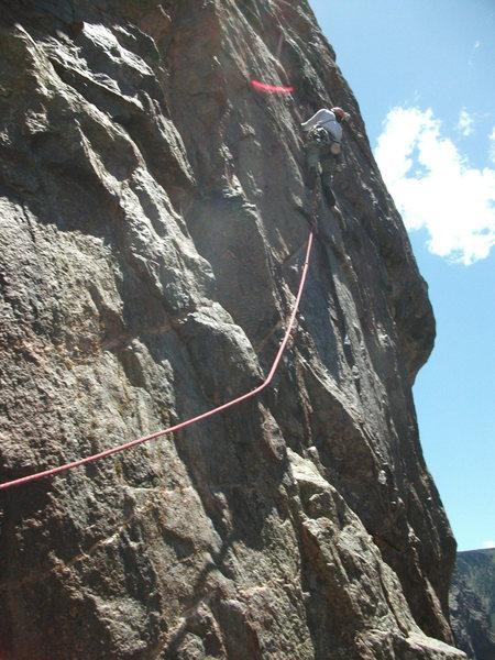 Rock Climbing Photo: Crux, a little stiff.