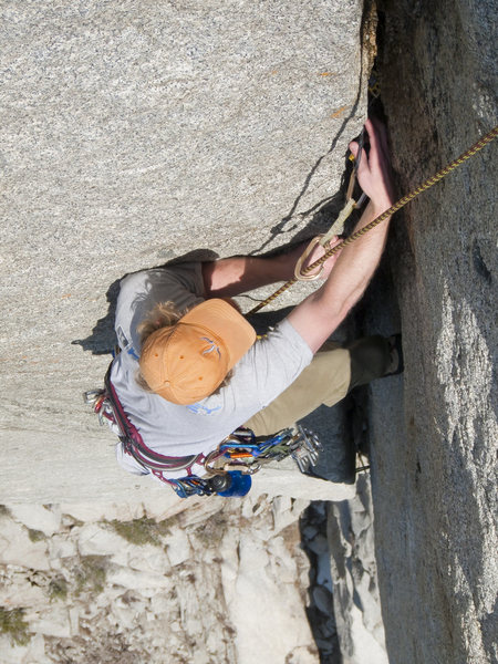 Rock Climbing Photo: Eric on pitch 1