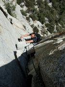 Rock Climbing Photo: Jascha at the crux flake