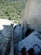 Rock Climbing Photo: 5.7 lieback on P2/3 (depending on where you set th...