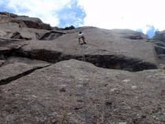 Rock Climbing Photo: Kevin L. on the lower slab.