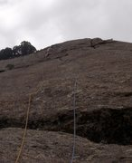 Rock Climbing Photo: Pat above the seam.