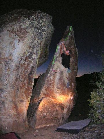 Rock Climbing Photo: Lance on Warm-Up