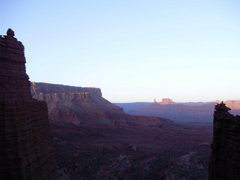 Sunrise over Castleton, as seen from the base of the Colorado NE Ridge