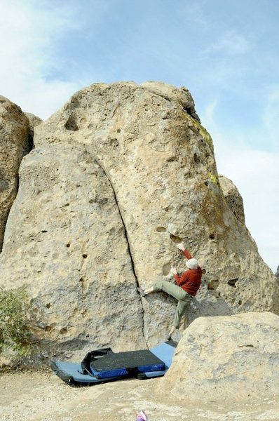 Rock Climbing Photo: Kevin Cady on the FRA