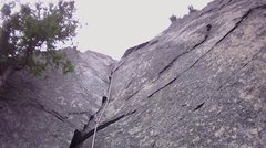 Rock Climbing Photo: Looking up at the great corner. Layback required (...