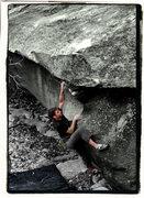"Rock Climbing Photo: Aaron Parlier on ""Thews"" in the Boneyard..."