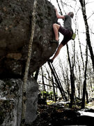 "Rock Climbing Photo: Travis Melin on ""The Hive"" (v3) on the H..."