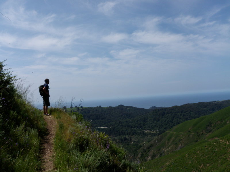 Rock Climbing Photo: Hiking up Mt. Manuel in Big Sur