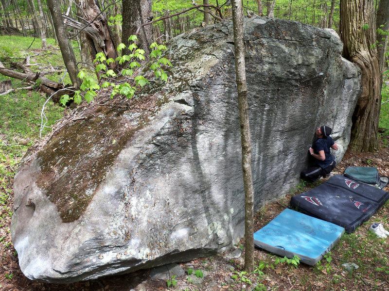 "Rock Climbing Photo: Steve Lovelace pulling onto ""season Premire&q..."