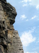 Rock Climbing Photo: Wider view of climbers on first (or optional secon...