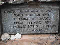 Rock Climbing Photo: One, of about ten, plaques to dead climbers