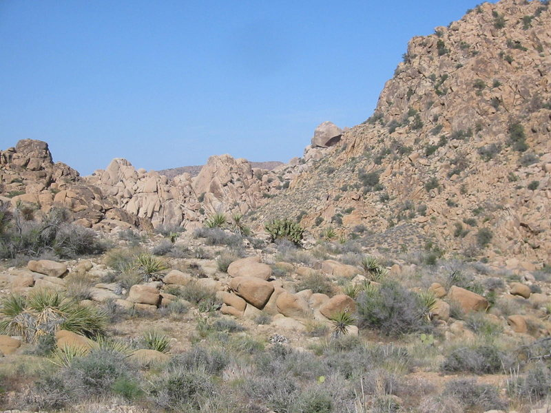 Rock Climbing Photo: Enlarge and you will see the big steep, dark face ...