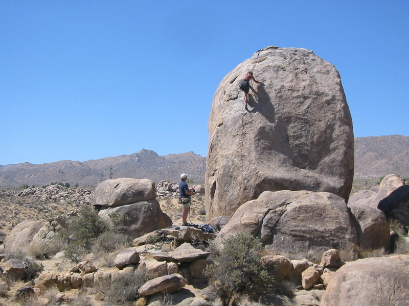 Rock Climbing Photo: This big boulder near Coyote Hole has a bolted fac...