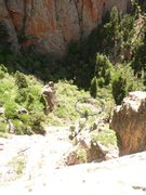 Rock Climbing Photo: This is looking down from mid-route, showing where...