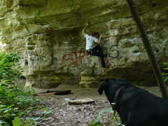 Rock Climbing Photo: crap bouldering at boomsites in stillwater MN..