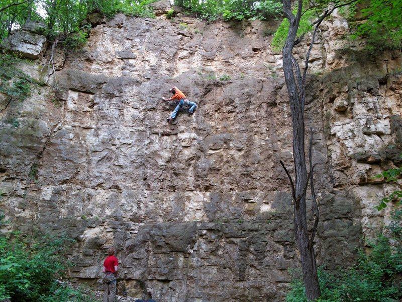 Nate Erickson climbing Psychobitch on Psychobitch Wall. 6 June '10.