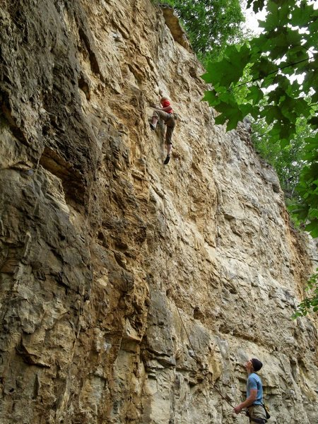Rock Climbing Photo: Ted and Bob Kryzer on Freehander. 6 June '10.