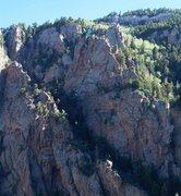 Rock Climbing Photo: Lost Hole (5.7), Rat's Rock, Upper La Cueva Canyon...