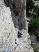 "Rock Climbing Photo: For the follower, the ""easy face climbing&quo..."