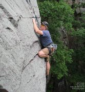 Rock Climbing Photo: The last delicate move