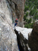 Rock Climbing Photo: Kor's Flake namesake pitch.   I didn't think many ...