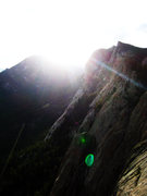 Rock Climbing Photo: Sundancing.  From the top of the Book on a fantast...