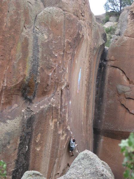 Rock Climbing Photo: Johnny cruxin'.