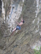 Rock Climbing Photo: Finishing up the low pocket section.  There a good...