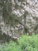 "Rock Climbing Photo: Resting at the ""leg-swallowing hole"".  T..."