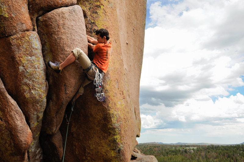 Rock Climbing Photo: Dan getting the OS!