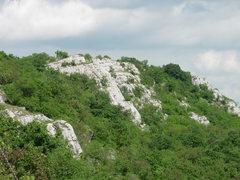 Rock Climbing Photo: Reibung Tábla at Bajót, as seen from the top of ...