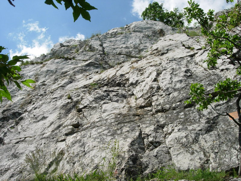 Rock Climbing Photo: The left end of Szívek Fala at Bajót.  Lots of r...