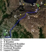 Rock Climbing Photo: This shows the general direction of Fremont Lake R...