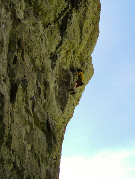 Rock Climbing Photo: Nearing the climbs 1/2 way point: on RP