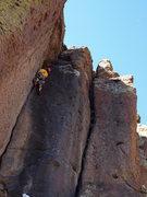 Rock Climbing Photo: T.B.Barto getting some action on sandy Pocket Crac...