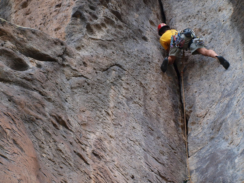 Rock Climbing Photo: The enjoyable Vanilla Crack.