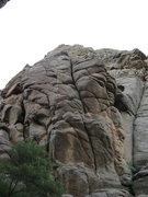 Rock Climbing Photo: The Icarus Line traverses into the obvious splitte...