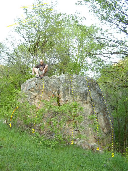 Rock Climbing Photo: Parking lot boulder and some dude posing for glamo...