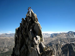 Rock Climbing Photo: Lisa on one of the many gendarmes on the Emerson r...