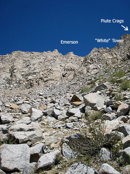 route and the Piute Crags