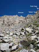 Rock Climbing Photo: route and the Piute Crags
