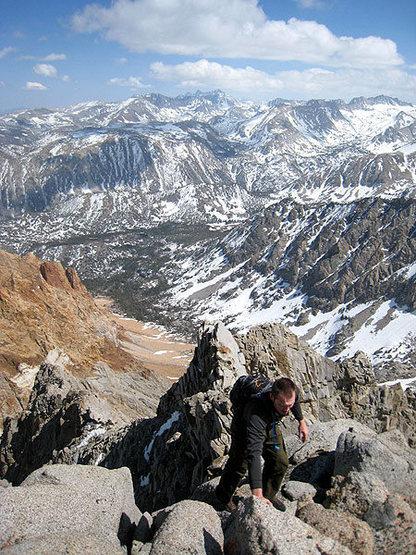 Rock Climbing Photo: looking back down the ridgeline
