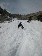 Rock Climbing Photo: early season glissade descent