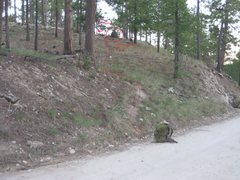 Rock Climbing Photo: go PAST the drainage until you see the trail marke...